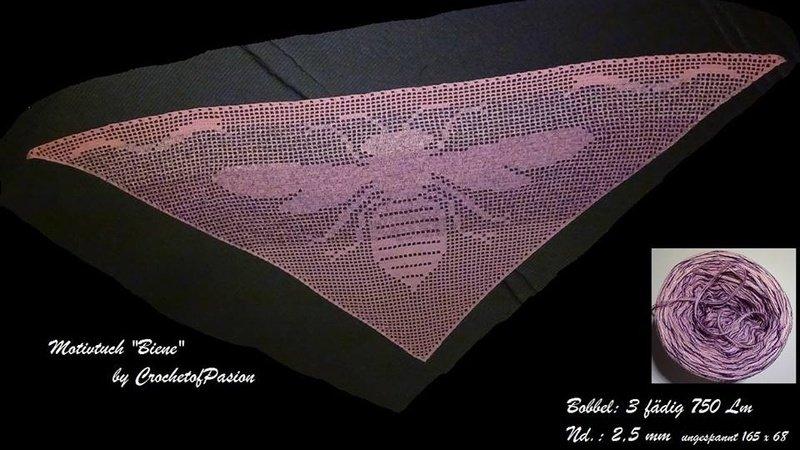 Motivtuch : Biene (Häkelanleitung)
