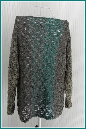 Pulli Chillix mit 2 BOBBEL-COTTON XTRA Stricken - Oversize