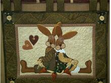 Wandquilt Honey und Bunny
