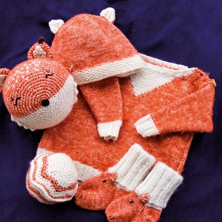 best website 4b743 8d773 Fuchs Baby Erstlingsausstattung Set groß - Strick und Häkelanleitungen