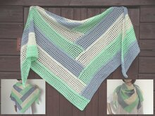 "Crochet pattern ""Tausendsassa"" triangle shawl"