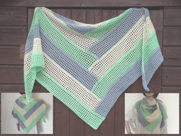 Crochet Pattern Tausendsassa Triangle Shawl