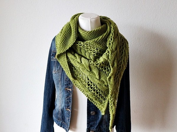 "Knitting pattern shawl ""Cozy Winter"""
