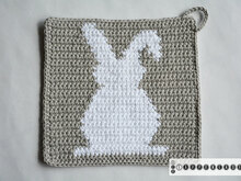 Bunny Potholder Crochet Pattern - for beginners