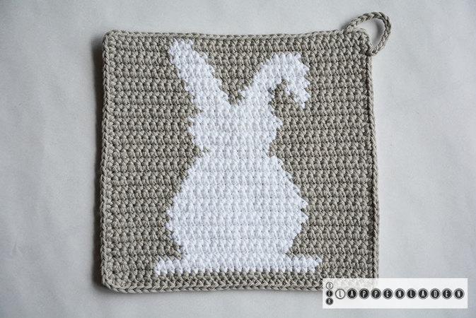 Bunny Potholder Crochet Pattern For Beginners