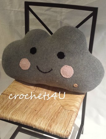 Crochet Cloud Pattern   Crochet baby mobiles, Crochet projects to ...   450x342