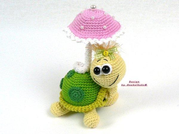 Schildkröte Häkeln Tier Mit Sonnenschirm