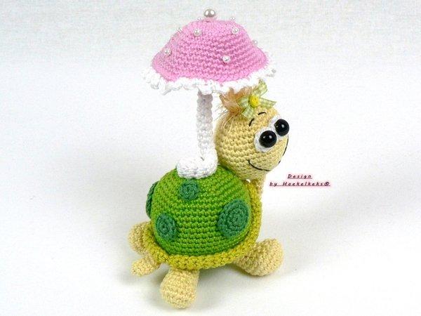 Schildpad Haken Dier Met Parasol