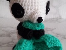 Crochetpattern Panda with blanket
