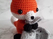 Crochetpattern Fox with blanket