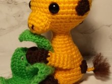 Crochetpattern Giraffe with blanket