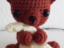 Crochetpattern Teddy with blanket