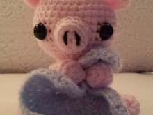 Crochetpattern Pig with blanket