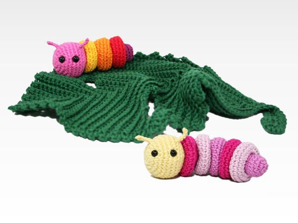 Lovey - Little Caterpillar (+ rattle) - Crochet Pattern