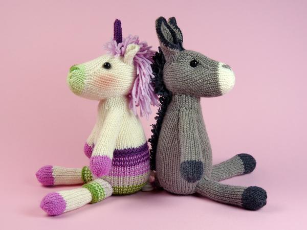 Unicorn + Donkey knitting pattern