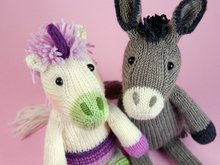 Unicorn + Donkey knitting pattern