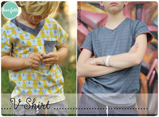 V-Shirt / T-Shirt ebook Schnittmuster Gr.86-164