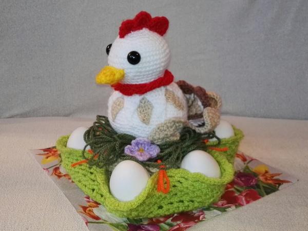 Spar-Set, Häkelanleitung Osterkorb mit Eierhalter und Huhn