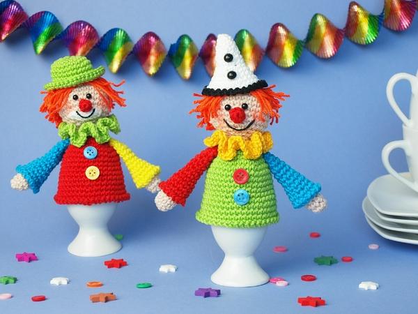 Eierwärmer Häkeln Clown Als Eierwärmer