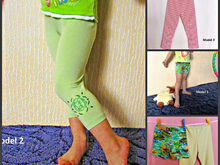 Children's Leggings pattern and instruction, sizes 1-11 years girl & boy leggings.