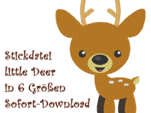 Stickdatei little Deer Reh Rehkitz