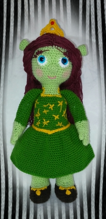 pattern amigurumi princess fiona XL PDF english-Deutsch