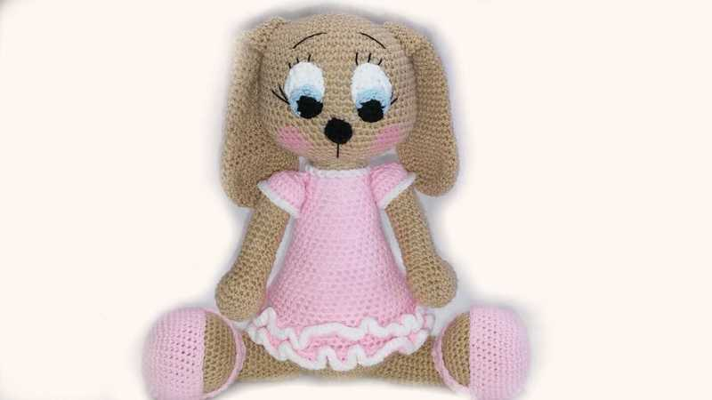 Amigurumi-Häkelanleitung Hund Lulu XL PDF english-Deutsch-dutch