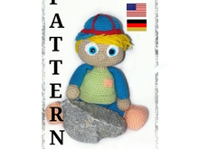 Häkelanleitung amigurumi James, der Rebell PDF english-Deutsch
