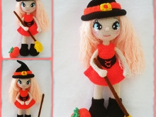 pattern amigurumi annie the little witch XL PDF english-Deutsch-dutch