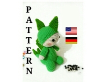 Amigurumi-Muster, Billy, der Drache PDF english-Deutsch