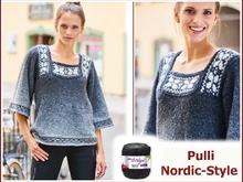 "Pulli ""Nordic-Style"" stricken aus CLOUD von Woolly Hugs"