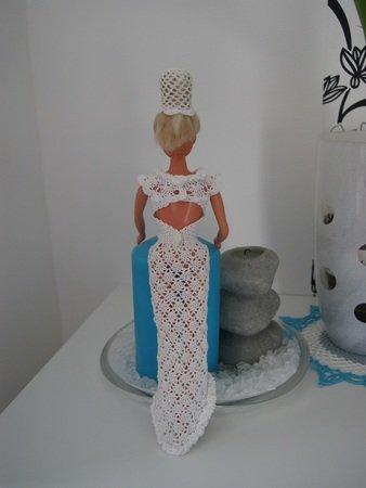 Häkelanleitung Barbies Brautkleid mit Umhang und Haarschmuck