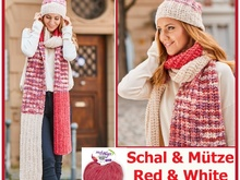 "Schal & Mütze ""Red & White"" Stricken aus SHEEP von Woolly Hugs"