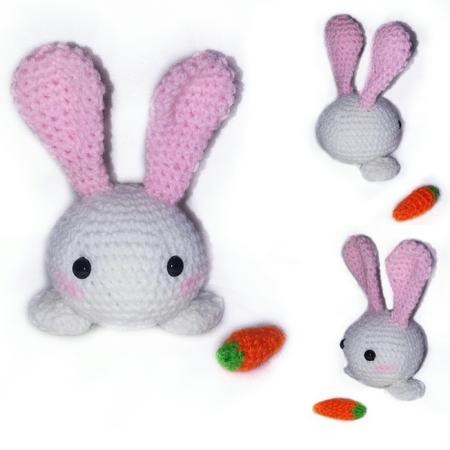 Bunny Crochet Pattern-Instant Download -Toy Bunny Pattern-Small ... | 450x450