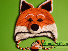 Fox Animalhat Crochet Pattern in 4 sizes