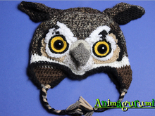 Owl Animalhat Crochet Pattern in 4 sizes