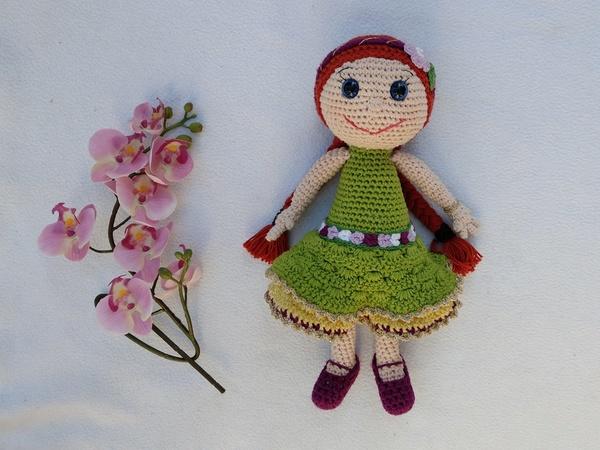Häkelanleitung Puppen Blumenmädchen Romy und Leni