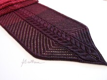 "Knitting Pattern Stole Shawl ""Glowing Embers"""