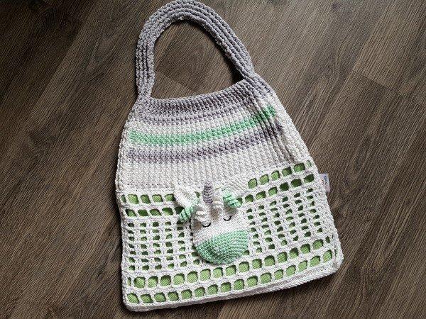 Häkelanleitung Tasche Strandtasche Einhorn