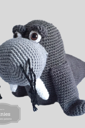 Crochet Pattern For A Walrus Clearly Described In Germandeutsch