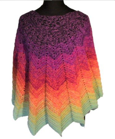 "Crochet pattern ""Lotus"" shawl"