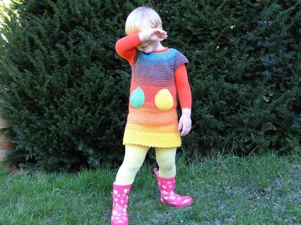 Häkelanleitung Kleidchen mit Taschen - jede Größe, jedes Garn