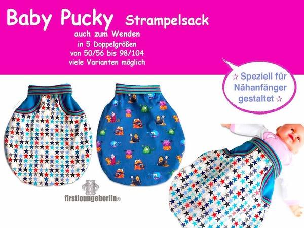 außergewöhnliche Farbpalette gut aussehen Schuhe verkaufen schön in der Farbe Baby Pucky Pucksack für Babys in 5 Größen 50/56 bis 98/104 Nähanleitung mit  Schnittmuster von firstloungeberlin