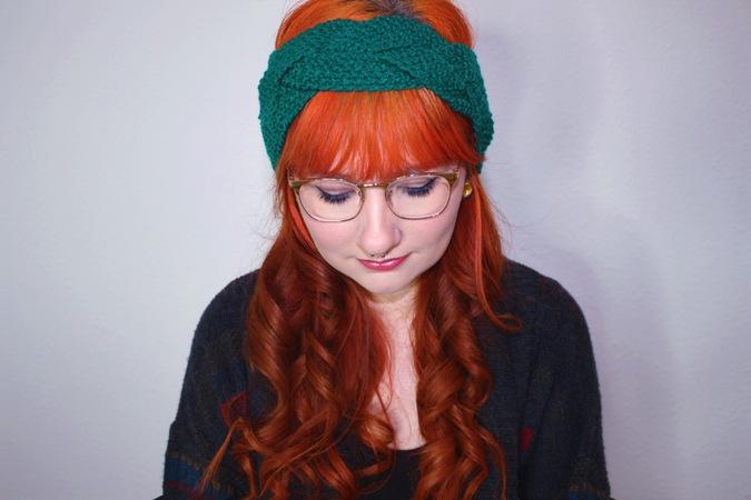 E-Book - halbgeflochtenes Stirnband im Perlmuster