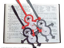 069 Crochet Pattern - Cat Baton bookmark or decor - Amigurumi PDF file by Zabelina CP