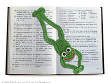 061 Crochet Pattern -  Frog bookmark or decor - Amigurumi PDF file by Zabelina CP