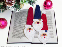 168 Crochet Pattern - Santa bookmark or decor - Amigurumi PDF file by Zabelina CP