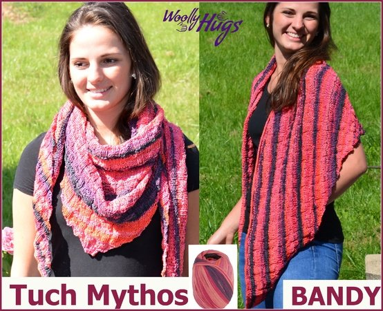 Tuch Mythos stricken aus BANDY von Woolly Hugs