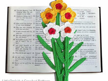 049 Crochet Pattern - Daffodil Flower bookmark or decor - Amigurumi PDF file by Zabelina CP
