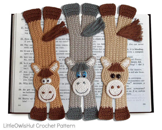 024 Crochet Pattern - Cat and MousE-Bookmarks or decor - Amigurumi ... | 450x563
